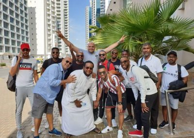 Moustafa Abbas with Ahlam's Percussion Group in Dubai
